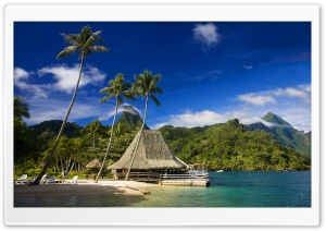 Tahiti Island HD Wide Wallpaper for Widescreen