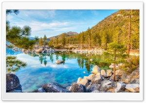 Tahoe Lake Transparent Water HD Wide Wallpaper for Widescreen