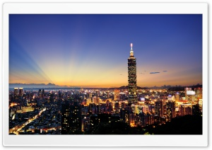 Taipei 101 HD Wide Wallpaper for 4K UHD Widescreen desktop & smartphone