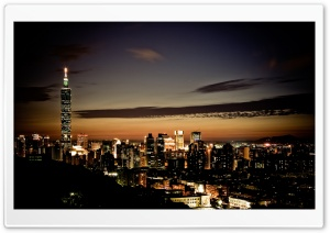 Taipei 101 At Night HD Wide Wallpaper for Widescreen