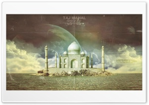 Taj Mahal HD Wide Wallpaper for Widescreen