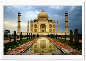 Taj Mahal India HD Wide Wallpaper for Widescreen