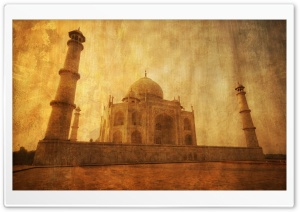 Taj Mahal, Vintage HD Wide Wallpaper for 4K UHD Widescreen desktop & smartphone