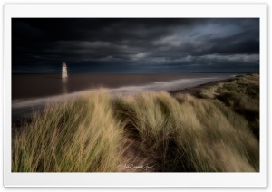 Talacre Beach Grass Dunes, Storm Clouds Ultra HD Wallpaper for 4K UHD Widescreen desktop, tablet & smartphone