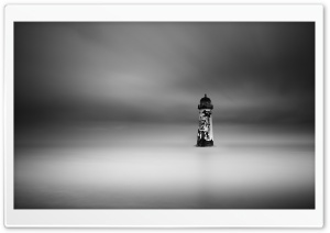 Talacre, Point of Ayr Lighthouse Lighthouse, Night Ultra HD Wallpaper for 4K UHD Widescreen desktop, tablet & smartphone