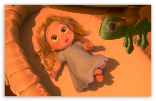 Tangled Baby Rapunzel HD wallpaper for Wide 16:10 5:3 Widescreen WHXGA WQXGA WUXGA WXGA WGA ; HD 16:9 High Definition WQHD QWXGA 1080p 900p 720p QHD nHD ; Standard 3:2 Fullscreen DVGA HVGA HQVGA devices ( Apple PowerBook G4 iPhone 4 3G 3GS iPod Touch ) ; Mobile 5:3 3:2 16:9 - WGA DVGA HVGA HQVGA devices ( Apple PowerBook G4 iPhone 4 3G 3GS iPod Touch ) WQHD QWXGA 1080p 900p 720p QHD nHD ;