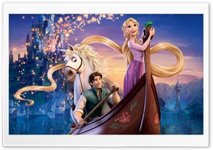 Tangled Boat Scene HD Wide Wallpaper for Widescreen