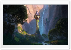 Tangled Castle HD Wide Wallpaper for Widescreen