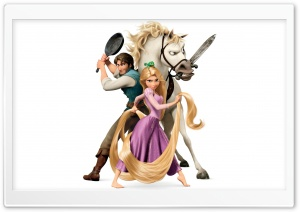 Tangled Disney   Rapunzel And Flynn Ryder HD Wide Wallpaper for Widescreen