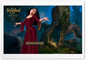 Tangled Mother Gothel HD Wide Wallpaper for Widescreen