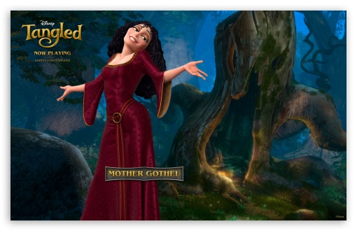 Tangled Mother Gothel HD wallpaper for Wide 16:10 5:3 Widescreen WHXGA WQXGA WUXGA WXGA WGA ; Mobile 5:3 - WGA ;