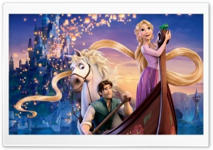 Tangled Musical Film HD Wide Wallpaper for Widescreen
