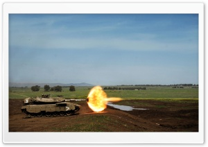 Tank Firing HD Wide Wallpaper for Widescreen