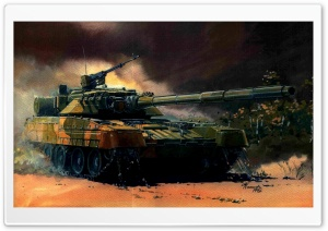 Tank Painting HD Wide Wallpaper for Widescreen