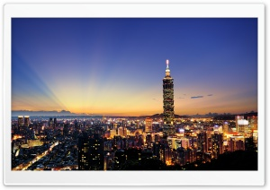 Tapei 101 Night HD Wide Wallpaper for Widescreen