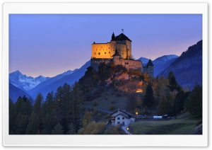 Tarasp Castle, Engadin, Switzerland Ultra HD Wallpaper for 4K UHD Widescreen desktop, tablet & smartphone