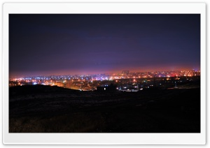 Taraz at Night HD Wide Wallpaper for Widescreen