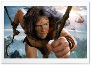 Tarzan oN 3D HD Wide Wallpaper for Widescreen