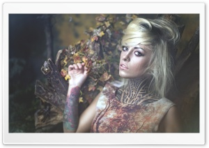 Tattooed Woman HD Wide Wallpaper for Widescreen