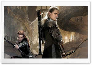Tauriel and Legolas HD Wide Wallpaper for 4K UHD Widescreen desktop & smartphone