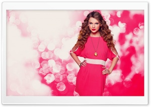 Taylor Swift In Pink Dress HD Wide Wallpaper for Widescreen