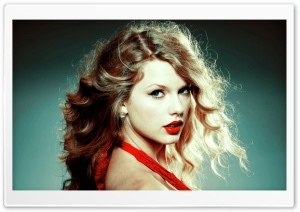 Taylor Swift in Red Dress HD Wide Wallpaper for Widescreen