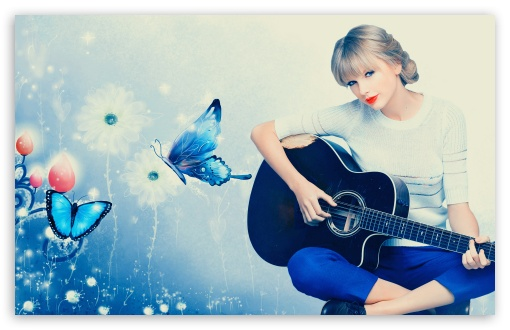 Taylor Swift Playing Guitar HD wallpaper for Wide 16:10 5:3 Widescreen WHXGA WQXGA WUXGA WXGA WGA ; HD 16:9 High Definition WQHD QWXGA 1080p 900p 720p QHD nHD ; Standard 5:4 3:2 Fullscreen QSXGA SXGA DVGA HVGA HQVGA devices ( Apple PowerBook G4 iPhone 4 3G 3GS iPod Touch ) ; Mobile 5:3 3:2 16:9 5:4 - WGA DVGA HVGA HQVGA devices ( Apple PowerBook G4 iPhone 4 3G 3GS iPod Touch ) WQHD QWXGA 1080p 900p 720p QHD nHD QSXGA SXGA ;