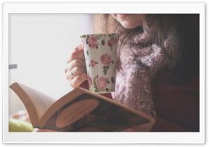 Tea And Books HD Wide Wallpaper for Widescreen