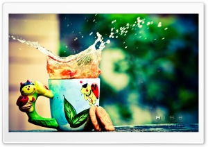 Tea Splash HD Wide Wallpaper for Widescreen