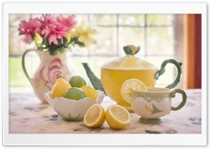 Tea with Lemon HD Wide Wallpaper for Widescreen