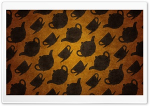 Teacups Pattern Ultra HD Wallpaper for 4K UHD Widescreen desktop, tablet & smartphone