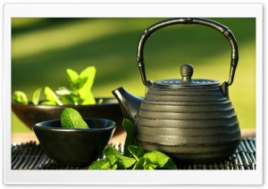 Teapot And Cups HD Wide Wallpaper for Widescreen