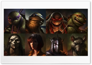 Teenage Mutant Ninja Turtles 2012 Art HD Wide Wallpaper for Widescreen