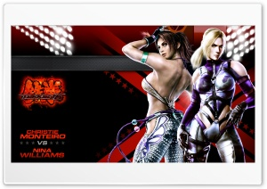 Tekken 6 Cast Nina x Christie HD Wide Wallpaper for Widescreen