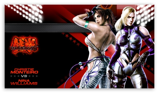 Tekken 6 Cast Nina x Christie HD wallpaper for HD 16:9 High Definition WQHD QWXGA 1080p 900p 720p QHD nHD ; Mobile 16:9 - WQHD QWXGA 1080p 900p 720p QHD nHD ;