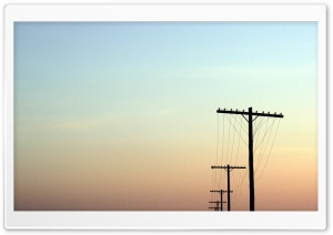 Telegraph Poles HD Wide Wallpaper for Widescreen