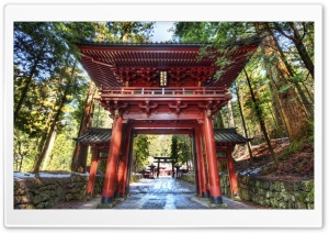 Temple Gate In Japan HD Wide Wallpaper for Widescreen