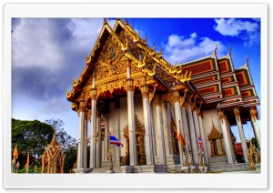 Temple In Bankok HD Wide Wallpaper for Widescreen