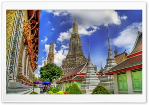 Temple In Bankok, Thailand HD Wide Wallpaper for Widescreen