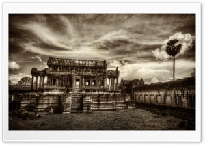 Temple In Cambodia HD Wide Wallpaper for Widescreen