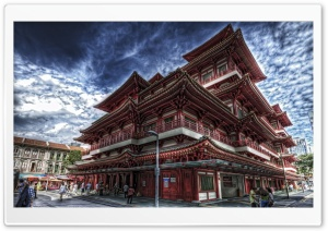 Temple In Singapore HDR HD Wide Wallpaper for Widescreen