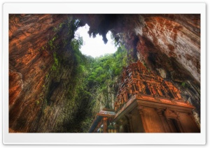 Temple In The Caves, Malaysia HD Wide Wallpaper for Widescreen