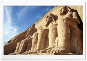Temple of Ramesses II Abu Simbel Aswan, Egypt Ultra HD Wallpaper for 4K UHD Widescreen desktop, tablet & smartphone