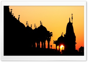 Temple Silhouette HD Wide Wallpaper for Widescreen