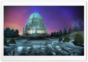 Temple Winter HD Wide Wallpaper for Widescreen