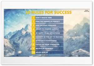 Ten Rules for Success HD Wide Wallpaper for Widescreen