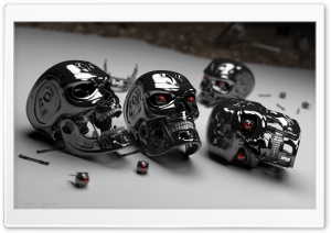 Terminator Heads HD Wide Wallpaper for Widescreen