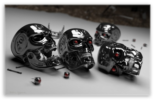 Terminator Heads HD wallpaper for Wide 16:10 Widescreen WHXGA WQXGA WUXGA WXGA ;