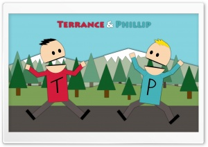Terrance and Phillip v2 HD Wide Wallpaper for Widescreen