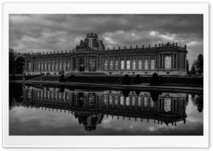Tervuren, Belgium Black and White HD Wide Wallpaper for Widescreen